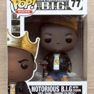 Funko Pop Rocks Notorious B.I.G With Crown + Free Protector