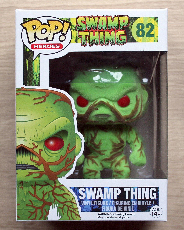 Funko Pop DC Heroes Swamp Thing Flocked + Free Protector