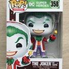 Funko Pop DC Heroes The Joker As Santa + Free Protector