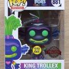 Funko Pop Trolls World Tour King Trollex GITD + Free Protector