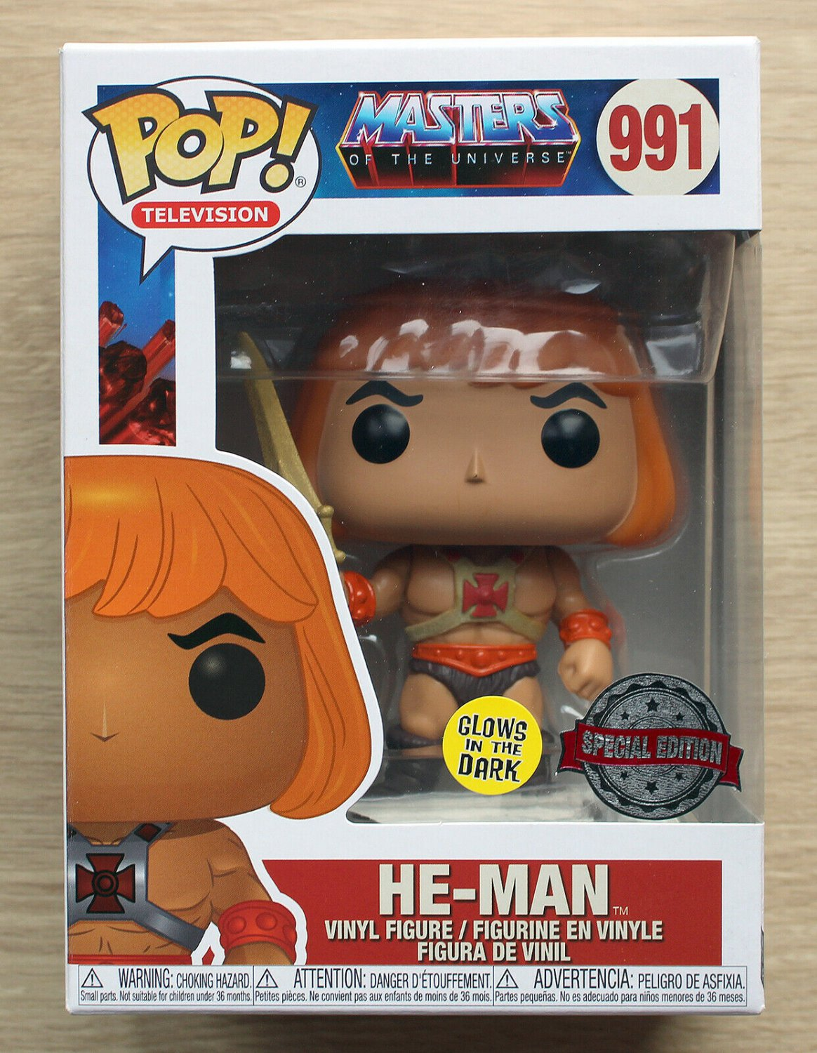 Funko Pop Masters Of The Universe He-Man GITD + Free Protector