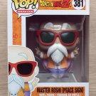Funko Pop Dragon Ball Z Master Roshi Peace Sign + Free Protector