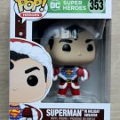 Funko Pop DC Heroes Superman In Holiday Sweater + Free Protector
