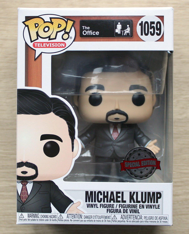Funko Pop The Office Michael Klump + Free Protector