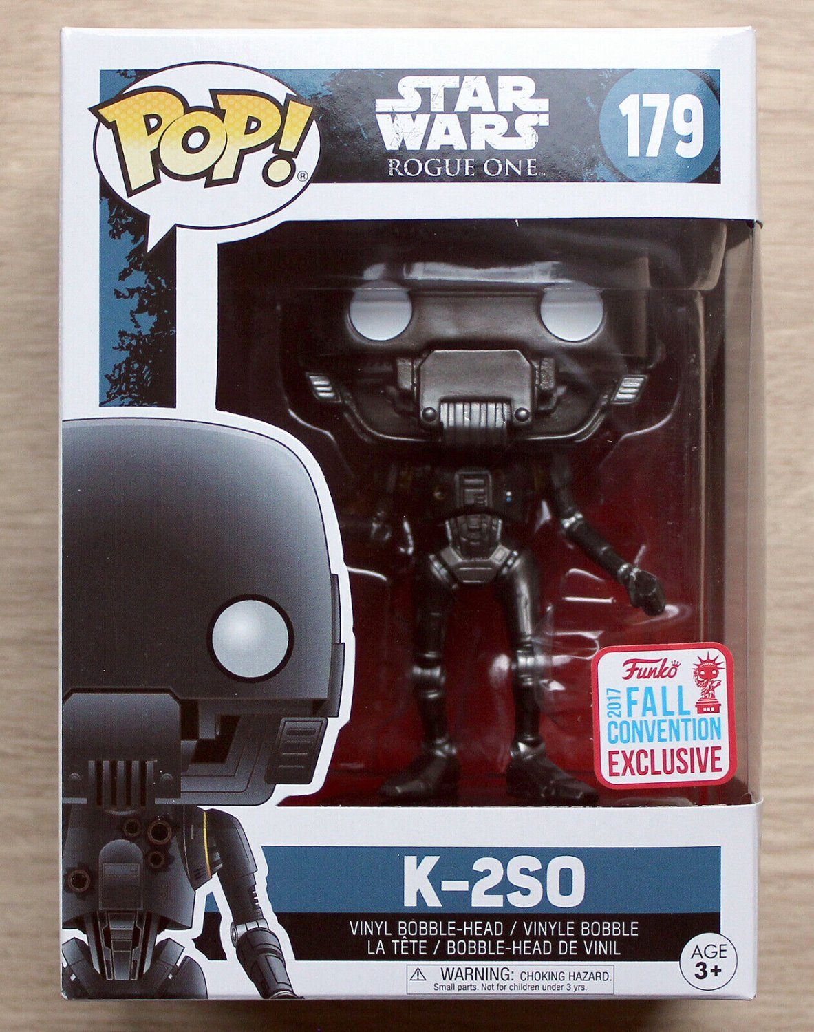 Funko Pop Star Wars Rogue One K-2SO NYCC + Free Protector