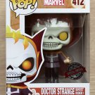 Funko Pop Marvel Doctor Strange Ghost Rider + Free Protector