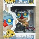 Funko Pop Disney The Lion King Rafiki With Simba Diamond Glitter + Protector