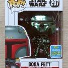 Funko Pop Star Wars Boba Fett Green Chrome SDCC + Free Protector
