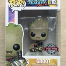 Funko Pop Guardians Of The Galaxy Vol 2 Groot With Bomb + Protector