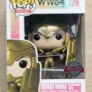 Funko Pop WW84 Wonder Woman Golden Armor Shield + Free Protector