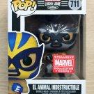 Funko Pop Marvel Lucha Libre El Animal Indestructible Grey Suit + Free Protector