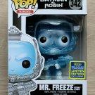 Funko Pop DC Heroes Batman & Robin Mr Freeze Glitter SDCC + Protector