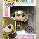 Funko Pop WW84 Wonder Woman Golden Armor + Free Protector
