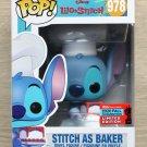 Funko Pop Disney Lilo & Stitch - Stitch As Baker NYCC + Free Protector