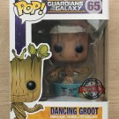 Funko Pop Marvel Guardians Of The Galaxy Dancing Groot Blue + Protector