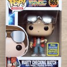 Funko Pop Back To The Future Marty Checking Watch SDCC + Free Protector