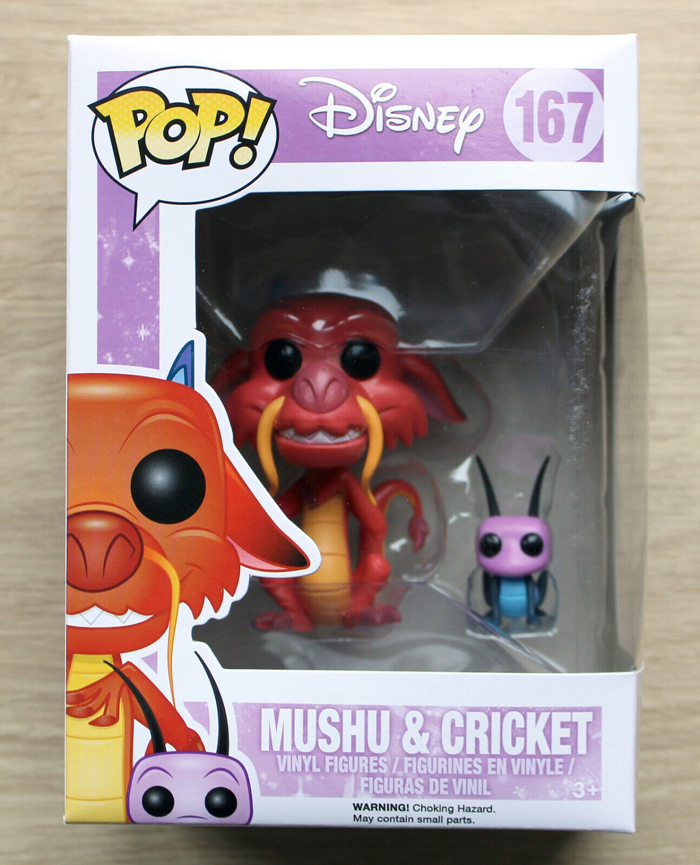 Funko Pop Disney Mulan - Mushu & Cricket + Free Protector