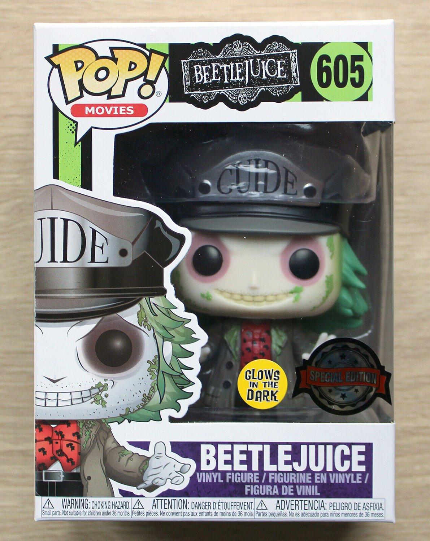 Funko Pop Beetlejuice With Hat GITD + Free Protector