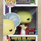 Funko Pop The Simpsons Vampire Mr Burns NYCC + Free Protector