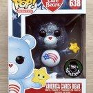 Funko Pop Care Bears America Cares Bear Translucent Glitter + Free Protector