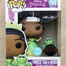 Funko Pop Disney The Princess & The Frog Tiana & Naveen Glitter + Free Protector