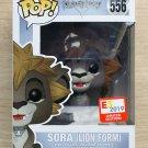 Funko Pop Disney Kingdom Of Hearts Sora Lion Form E3 + Free Protector