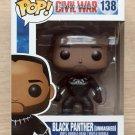 Funko Pop Marvel Civil War Black Panther Unmasked (Box Damage) + Protector
