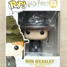 Funko Pop Harry Potter Ron Weasley With Sorting Hat + Free Protector