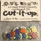 Cut It Up Jesse James Buttons Colorful Shank Flower Floral Buttons Plastic