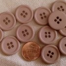 """Lot of 12 Matte VERY VERY Muted Dusty Lilac Plastic Buttons 3/4"""" 19mm # 7132"""