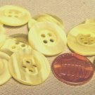 """Lot of 12 Pearlized Marblized Pale Yellow Plastic Buttons 13/16"""" 20mm # 7114"""