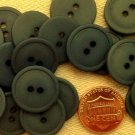 """12 Matte Dark Muted Teal Plastic Buttons Almost 3/4"""" 18.5mm # 7162"""