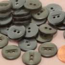 """24 Grey Pearlized Plastic Sew-through Buttons HINT OF GREEN 9/16"""" 15MM # 6372"""