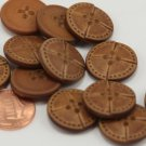"""12 Thick Domed Top Gold Tone PLASTIC Buttons 5/8"""" 16MM # 6282"""
