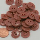 """Lot of 24 Shiny Brown Plastic Buttons 9/16"""" 15mm # 6497"""
