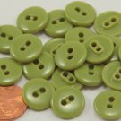 """Lot of 24 Shiny Green Plastic Buttons 9/16"""" 14.5mm # 6965"""
