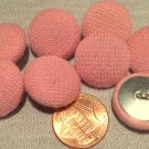 """8 Knit Fabric Front Metal Back Shank Buttons Soft Pink 19mm 3/4"""" # 7918"""
