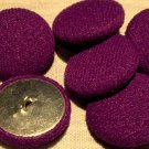 """8 Knit Fabric Front Metal Back Shank Buttons Purple 23mm 7/8"""" # 7896"""