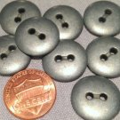 """8 Heavy Grey Tone Metal Sew-through Buttons 11/16"""" 18mm # 7694"""