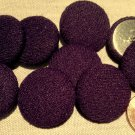 """9 Knit Fabric Front Metal Back Shank Buttons Purple 23mm 7/8"""" # 7895"""