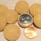 """8 Fabric Front Metal Back Shank Buttons Camel Color 23mm 7/8"""" # 7908"""