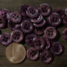 """24 Small Pearlized Purple Plastic 4-hole Sew-thru Buttons Almost 1/2"""" 12mm 7608"""