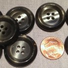 """8 New Shiny Pearlized Silver Grey Plastic Sew-through Buttons 1"""" 25mm # 7725"""