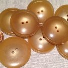 "8 Large Shiny Tan Plastic Coat Buttons 1 1/16"" 27mm # 7729"