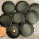 "8 Large Shiny Dark Grey Plastic Shank Buttons 1 1/16"" 27.5mm # 8909"