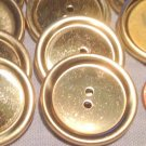 """8 Large Shiny Polished Brass Tone Metal Hollow Buttons 1 1/8"""" 28.4mm # 7654"""