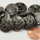 """144 pcs 1 gr Antiqued Silver Tone Metal Buttons Eagle VERY Light 3/4"""" 19MM 6141"""
