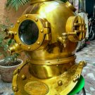 "18"" US Mark V Brass Antique Finish Collectible Scuba Boston Diving Divers Helmet"