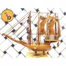 Miniatur Perahu Pinishi Kayu Jati Besar