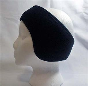 ADJUSTABLE BLACK SKI HEAD BANDS WRAPS EAR WARMERS NEW